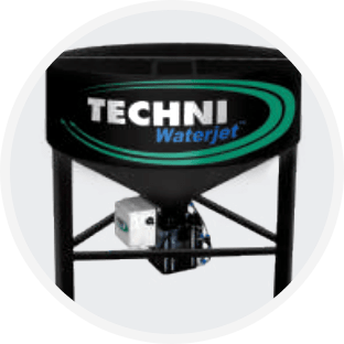Abrasive Pump and  Hopper - TECHNI Waterjet