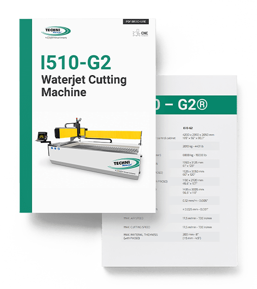 i510-G2 Waterjet Cutting Machine - TECHNI Waterjet
